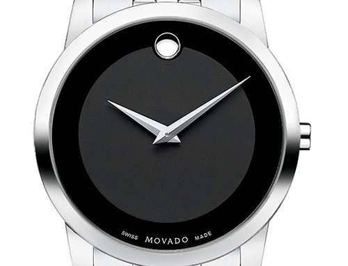Movado Museum Black Dial Stainless Steel Men's Watch 0606504