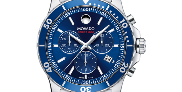 Movado Series 800 Chronograph Blue Dial Men's Watch 2600141