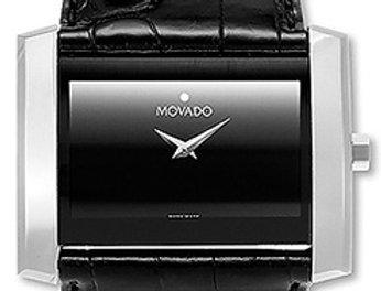 Movado Eliro Black Leather Strap Men's Watch 0605197