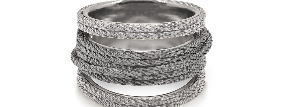 Grey & Steel Grey Cable Simple Stack Ring Ref. 02-42-S423-00