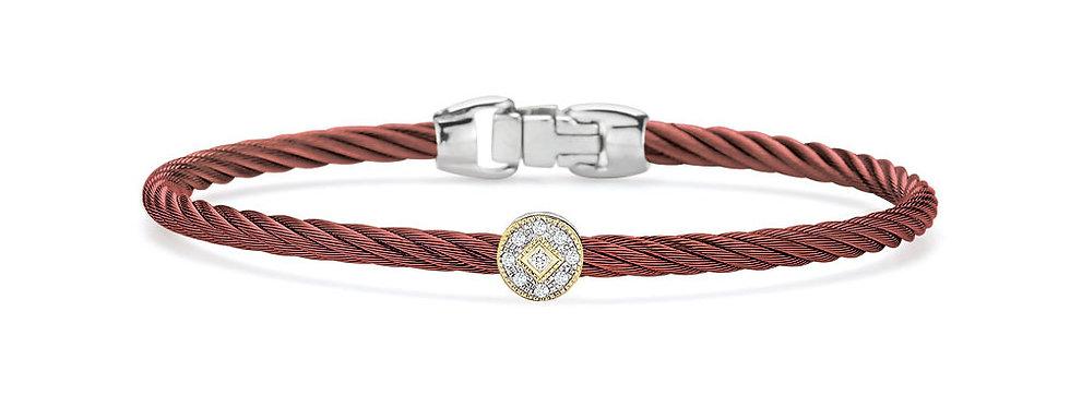 Alor Burgundy Cable Essential Stackable Bracelet Ref. 04-20-S912-11