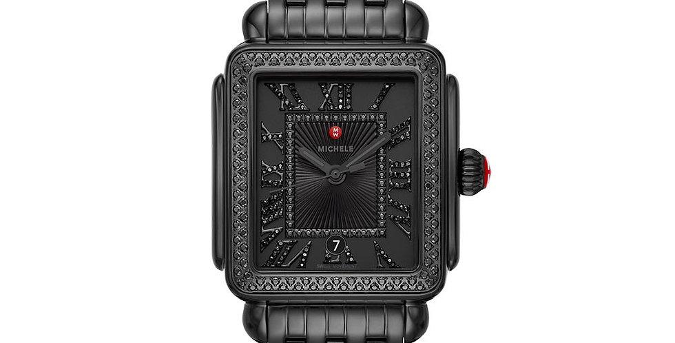 Michele Deco Madison Noir Black Diamond Watch MWW06T000215