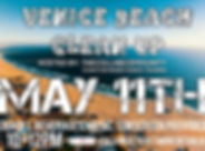 picture ad for venie beach clean up. hosted by the collab communty a donation based dance training program on may 11th snakcs, beverages, muisc, sunscreen provided, and a movement class at the end of the day. 10 to 12 pm follow us on facebook, instagram, or youtube to get more details!
