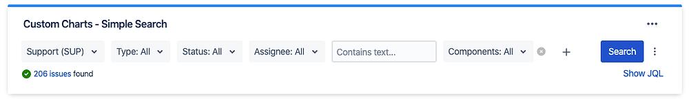 Custom Jira Reports Filter Simple Search