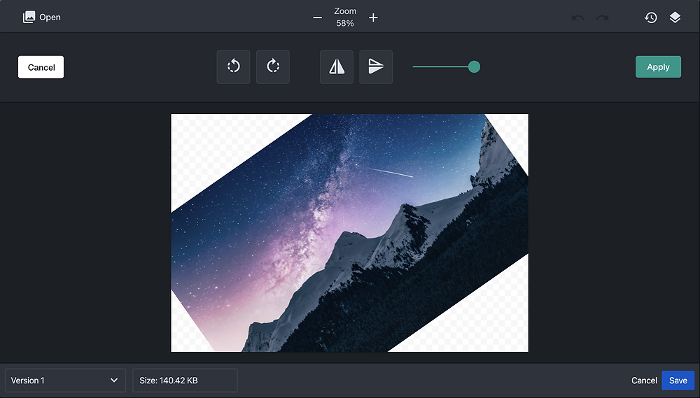 Rotate image in Confluence with Sketch