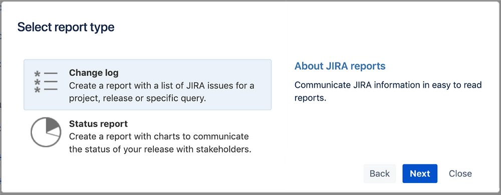 Create a Jira project static change log in Confluence