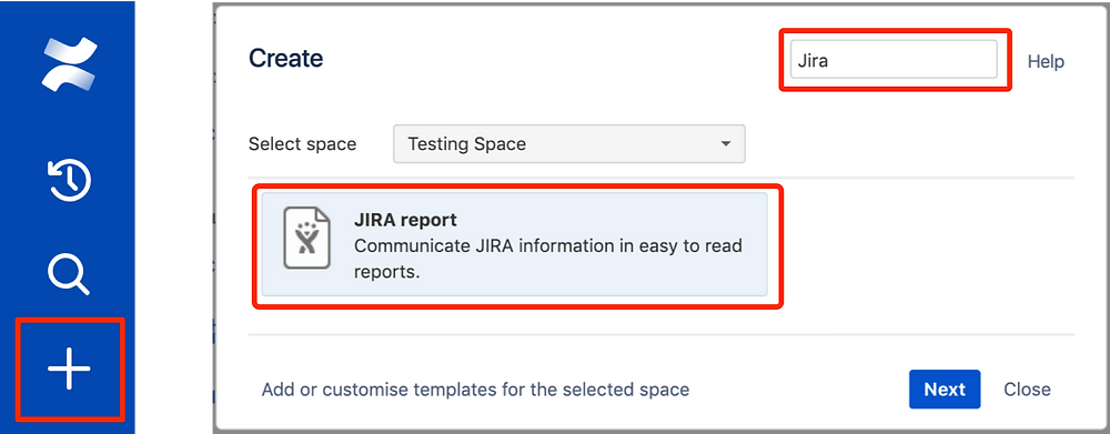 Create a Jira Report Blueprint from a template