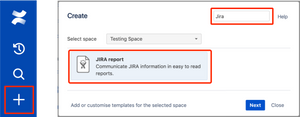 Create a Jira Report Blueprint from a template