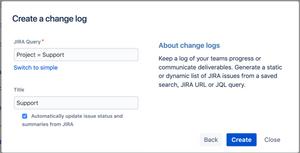 Dynamic Jira change log Report in Confluence