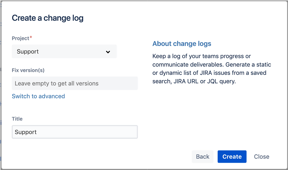 Create a Jira Project Change Log in Confluence