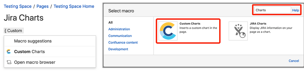 Custom Jira Charts for Confluence