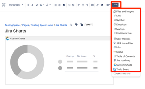 Insert a Jira macro into Confluence Pages