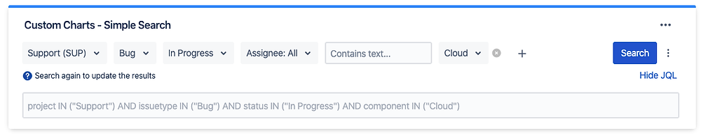 Share Jira JQL queries between users and dashboards