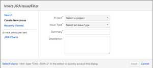 Display a count of Jira issues. Insert A Jira Issue/ Filter