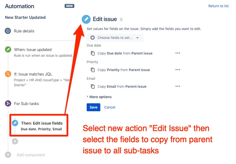 Select which fields to copy to all sub-tasks in Jira