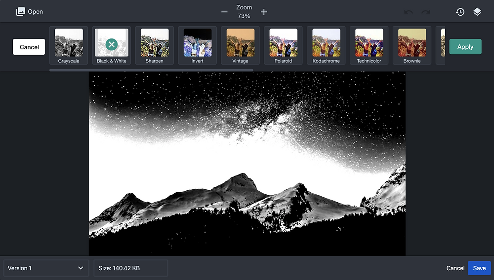 Image filters for confluence instagram