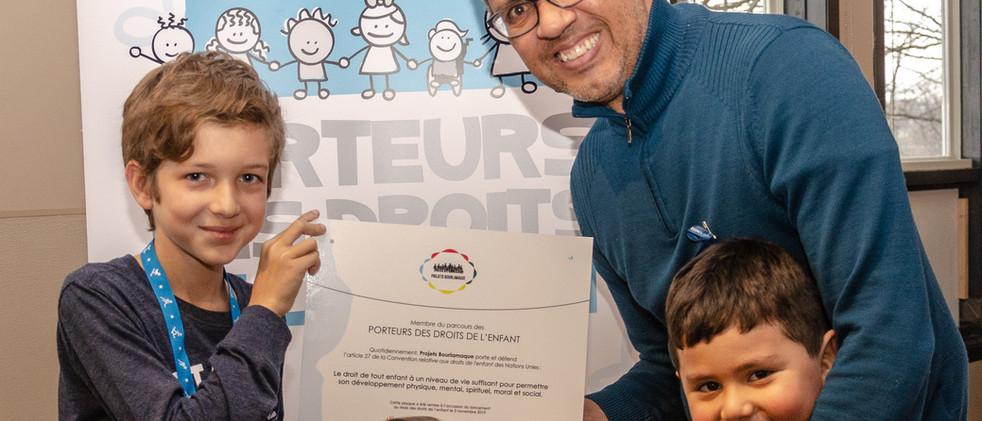 Pedro Nel-Marquez, des Projets Bourlamaque, Porteurs des droits des enfants 2019