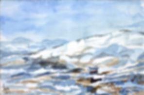 Kalle Andersson, Karl Andersson, Kallebild, Konstnär, Artist, Bildkonstnär, Painter, Målare, Skulptör, Sculptor, Svensk konstnär, Swedish artist, Västkust målare, West Coast painter, Uddevalla, Bohuslän, Eriksberg,  målning, painting, konstverk, artwork, kolorist, colorist, porträtt. portrait, konst, art,   Naturskildrare, Natural portrayer, akvarellmålning, watercolor painting, landskapsmålning, landscape painting, Winter painting, Seascapes, Vinterbild med havsmotiv,