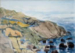 Kalle Andersson, Karl Andersson, Kallebild, Konstnär, Artist, Bildkonstnär, Painter, Målare, Skulptör, Sculptor, Svensk konstnär, Swedish artist, Västkust målare, West Coast painter, Uddevalla, Bohuslän, Eriksberg,  målning, painting, konstverk, artwork, kolorist, colorist, porträtt. portrait, konst, art,   Naturskildrare, Natural portrayer, akvarellmålning, watercolor painting, landskapsmålning, landscape painting, Bohuslän, Havsmotiv, bergsformation, marine design, Bohuslän,