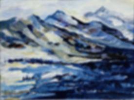 konstnär Kalle Andersson, landskap, landscape,  acrylic painting, akrylmålning, fjällvidd, fjällandskap, Norrbotten
