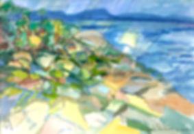 Kalle Andersson, Karl Andersson, Kallebild, Konstnär, Artist, Bildkonstnär, Painter, Målare, Skulptör, Sculptor, Svensk konstnär, Swedish artist, Västkust målare, West Coast painter, Uddevalla, Bohuslän, Eriksberg,  målning, painting, konstverk, artwork, kolorist, colorist, porträtt. portrait, konst, art,   Naturskildrare, Natural portrayer, akvarellmålning, watercolor painting, landskapsmålning, landscape painting, Bohuslän, Borgilefjord,
