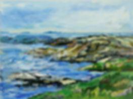 Havsutsikt, Havslandskap, Bohuslän, Västkusten, acrylic painting, akrylmålning, konstnär Kalle Andersson