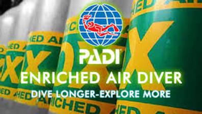 Cours en ligne: Spécialité PADI Nitrox Diver