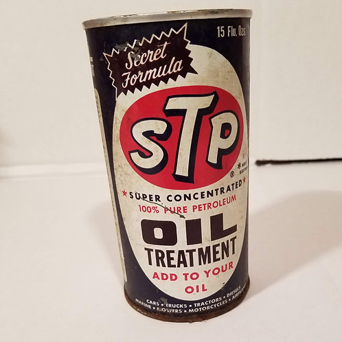 Vintage STP Oil Treatment 15 oz Pull top Can Full