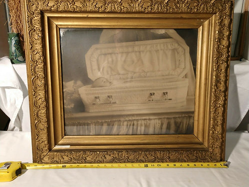 Postmortem Infant Ghost Mother Photo (Largest I have ever seen)