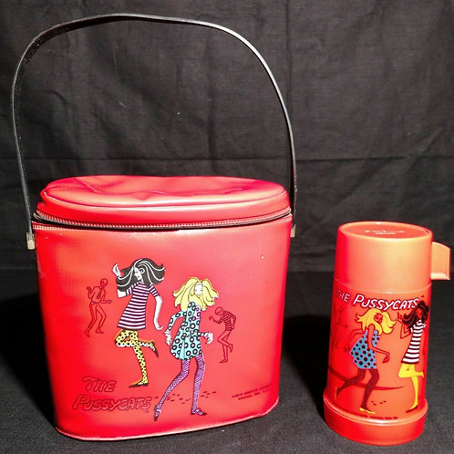 RARE 1968 The Pussycats vinyl lunchbox & thermos