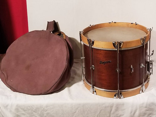 Rogers 10x14 Newport Marching Snare Drum 60's Era Mahogany