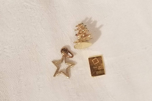 .999 GOLD and 14k Lot of 3 pieces