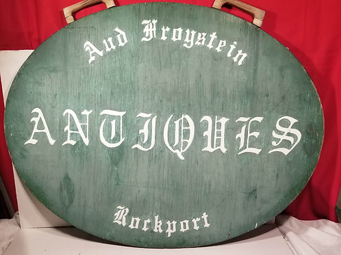 """Rockport MA Wooden Hand Painted Antique Shop Sign """"One of a Kind"""""""