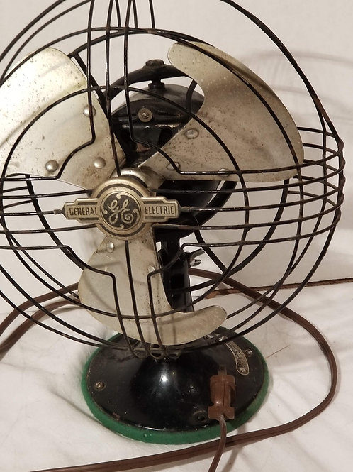 Vintage 1940 General Electric GE Vortalex Art Deco Oscillating Fan 10""