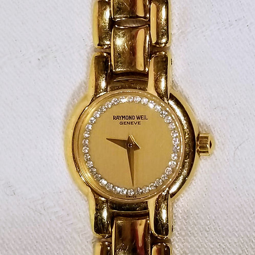 Raymond Weil Ladies Watch 18k Gold Plated, 24mm face