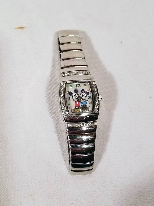 Disney MCK004 Women's Mother of Pearl Analog Tonneau Mickey & Minnie Mouse Watch