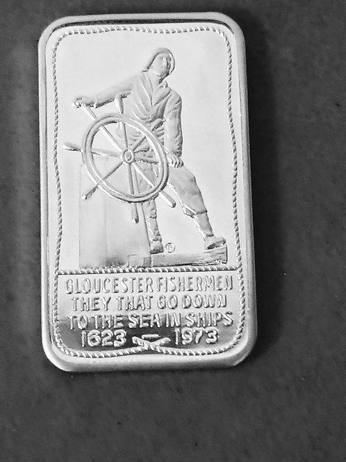 .999 Fine Silver Ingot Gloucester Fisherman