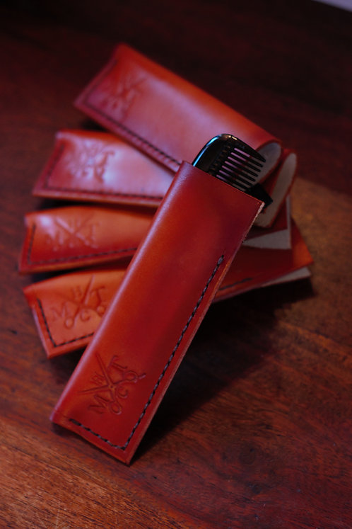 Limited Edition Leather Logo Comb Sleeve