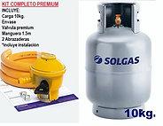 Kit completo premium 10kg (gas+envase regulador)