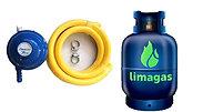 Kit completo premium (Gas 10kg+envase+regulador premium)