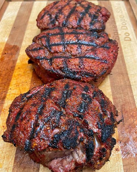Ribeye cap steaks.
