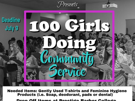 Call to Action: 100 Girls Doing Community Service