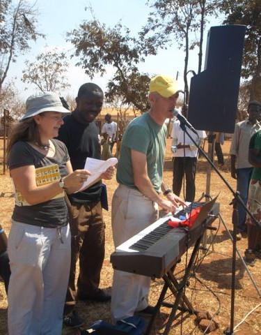 rehearsing in Dzaleka