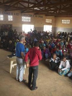 Jeremy conducting in Dzaleka