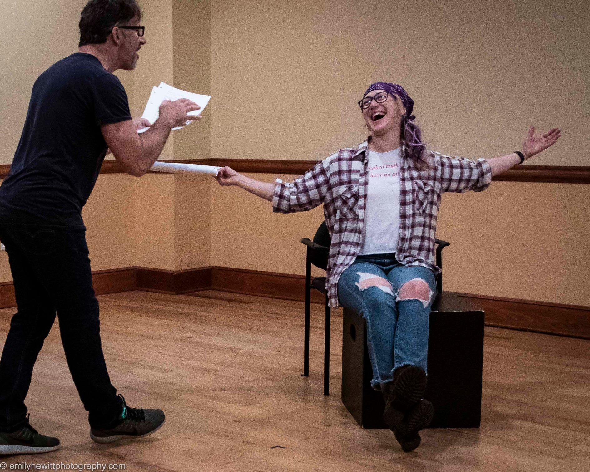 Rehearsing THE PETER PLAYS