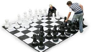 Enjoying a game of Giant Chess