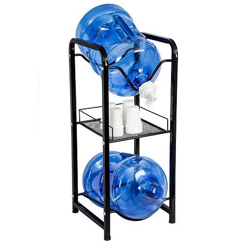 Bottle Rack with shelf & tap valve