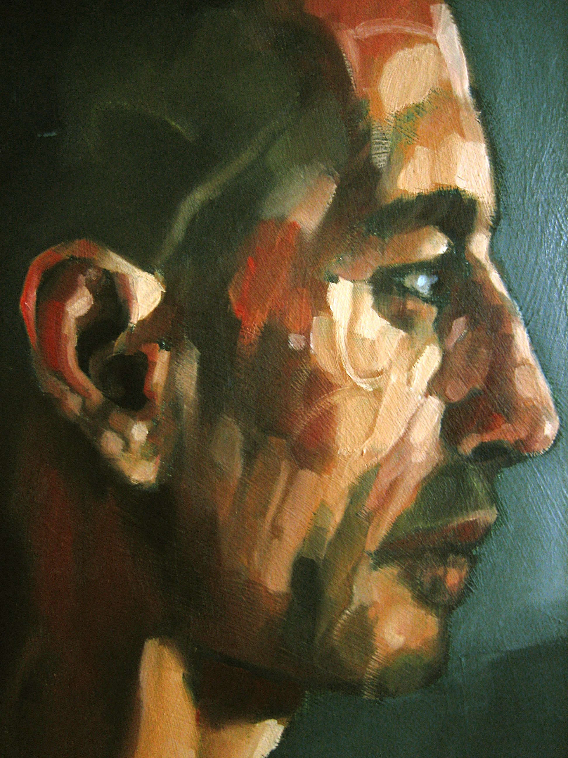 theclown  ( detail )- 73 x 60 - oil - 2007