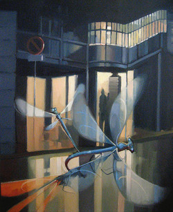 dragonflies,fly away - oil 50 x 60 - july 2012