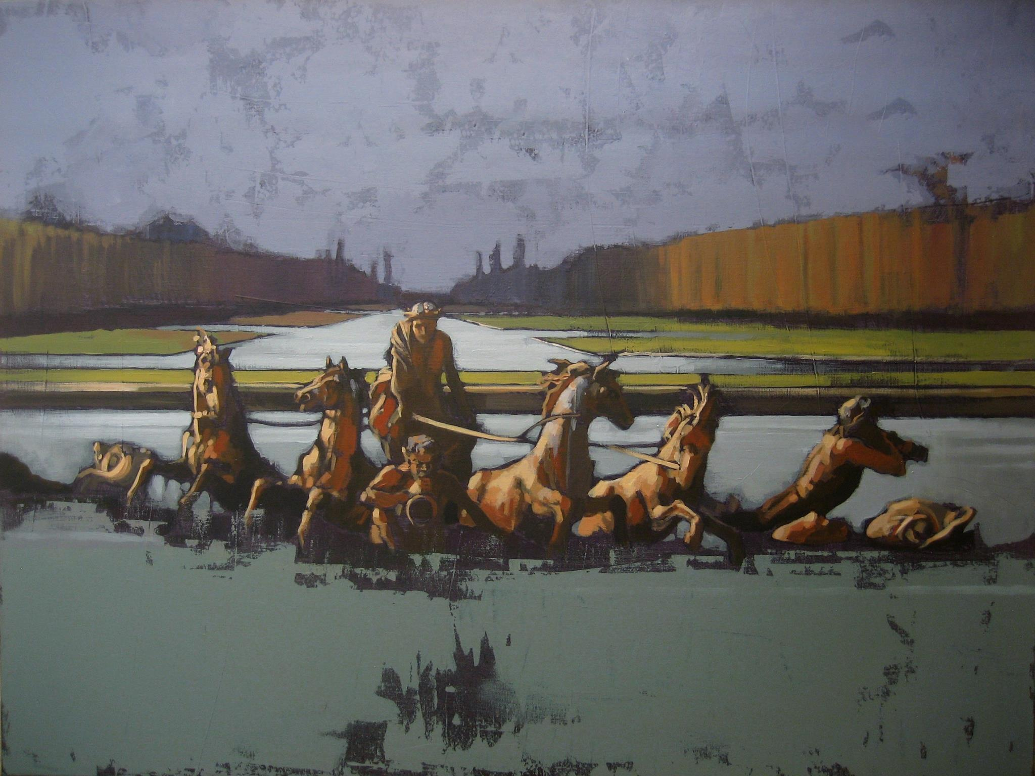 revolution 1 ( wild horses ) - Acrylic 89 x 116 march 2012
